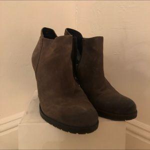 Charcoal booties